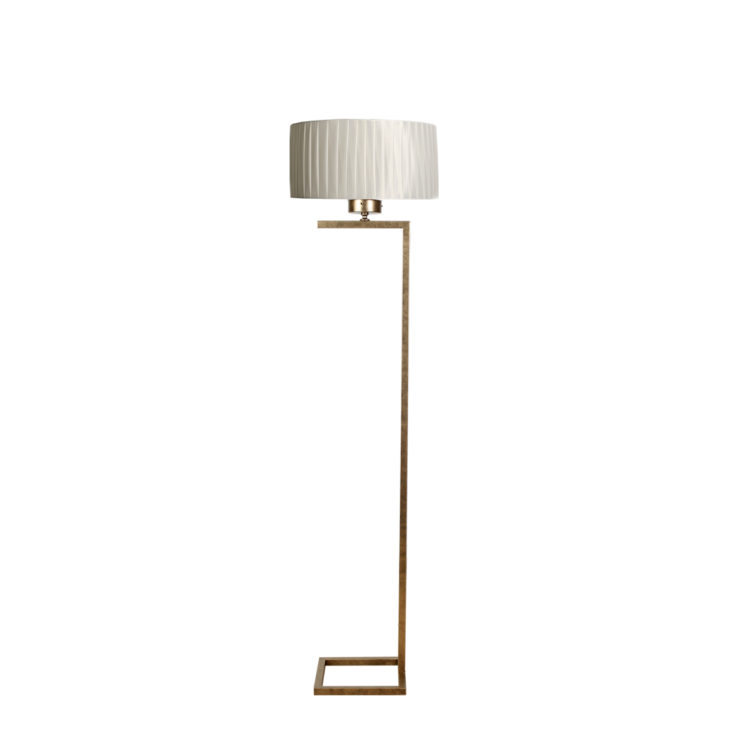 lampara suelo dorada