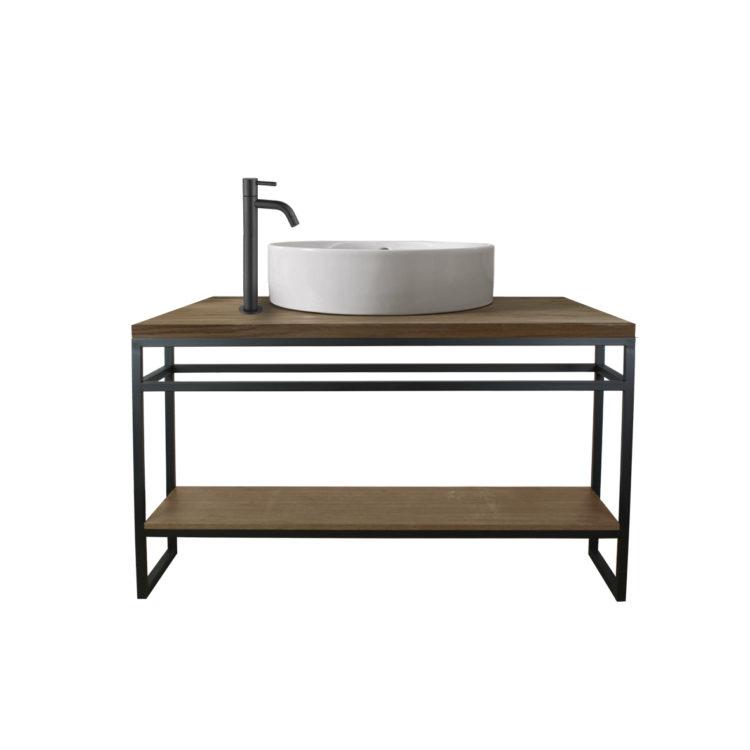 Mueble de lavabo Danko con tapa de madera