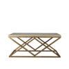 mesa centro oro viejo