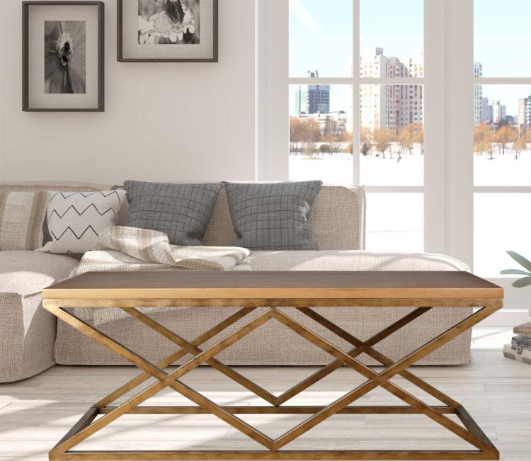 mesa centro madera